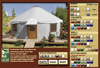 Yurt Color Builder